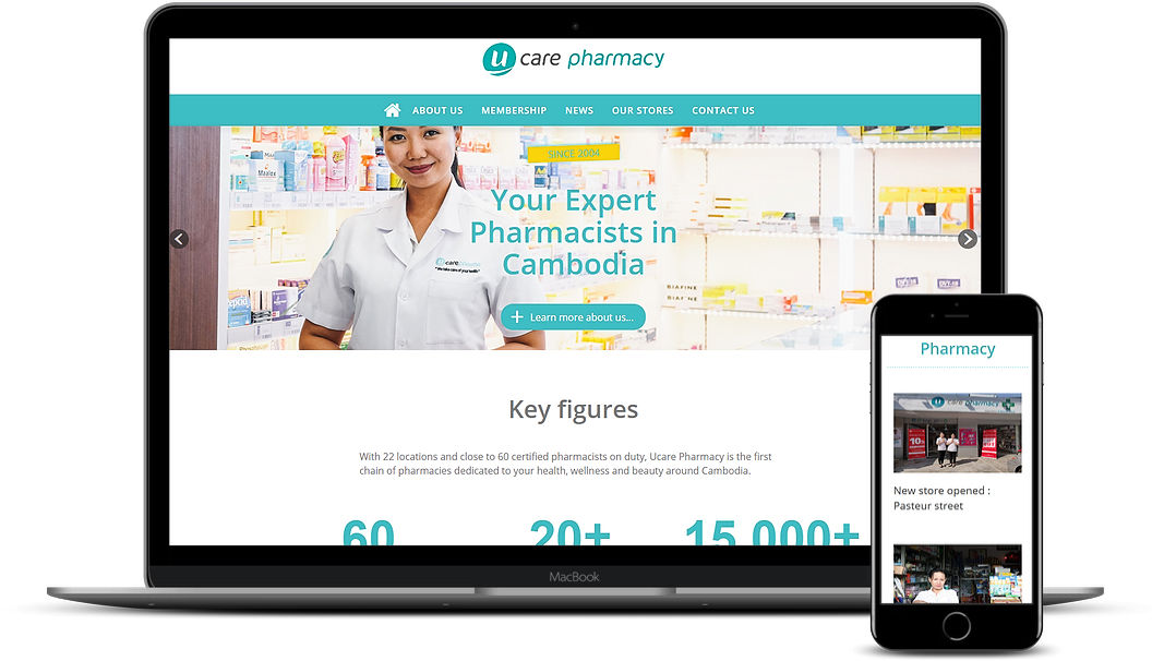 Site web Ucare Pharmacy Movendi